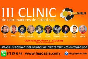 Ya se conocen los ponentes del III CLINIC LUGO SALA 2019