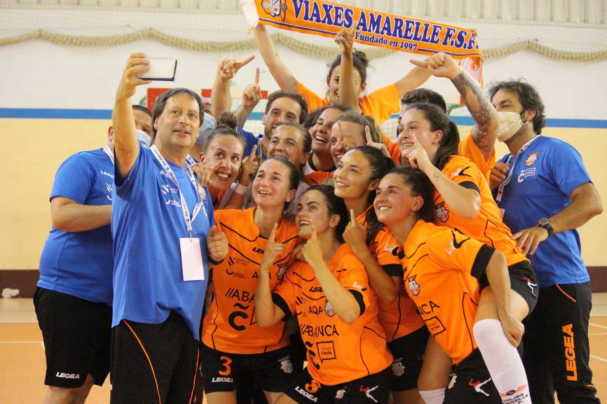 El Viaxes Amarelle regresa a la Primera División  después de vencer al Valdetires Ferrol ( 3-1 )