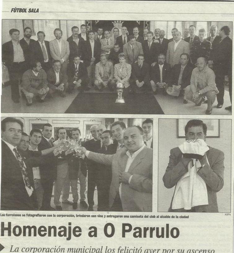 O Parrulo asciende a División de Honor en la temporada 1997-1998