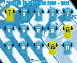 La plantilla del Soliss FS Talavera ya tiene sus dorsales para la temporada 2020-2021
