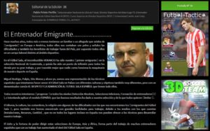 Articulo de opinión en la revista digital Fútbol – Táctico