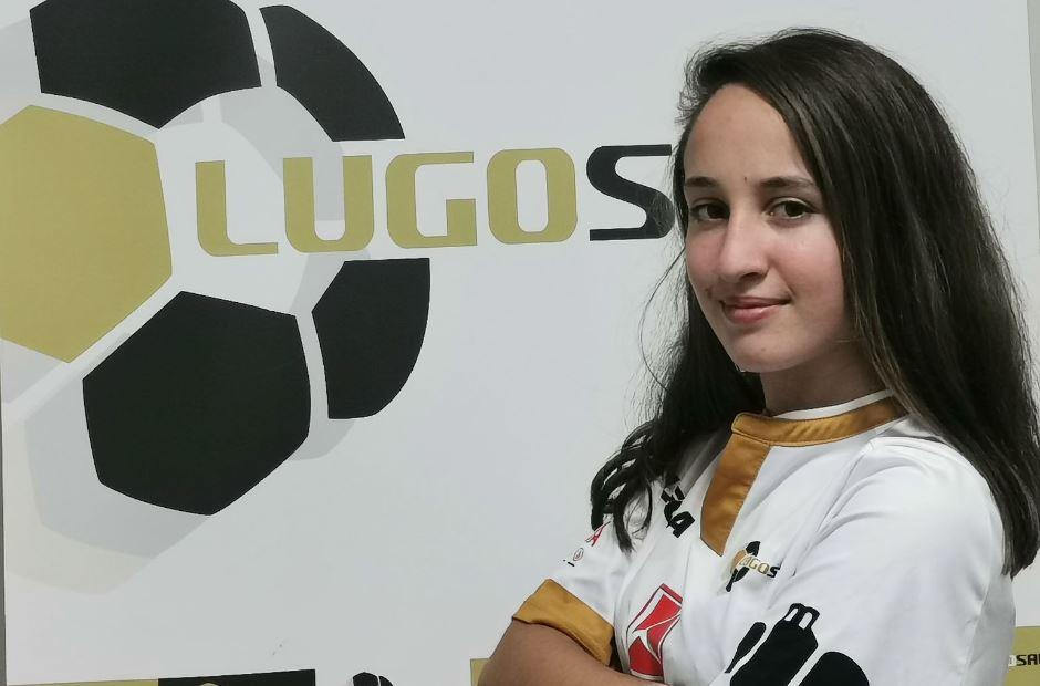 La joven Saray nueva incorporación del Lugo Sala femenino