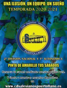 «Pinta de amarillo tus sábados» lema del  C.D Salesianos Puertollano F.S.F.