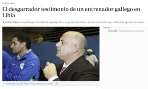 Pablo Prieto ha tenido que abandonar el país junto a su preparador físico por una situación que califica de «preguerra total»