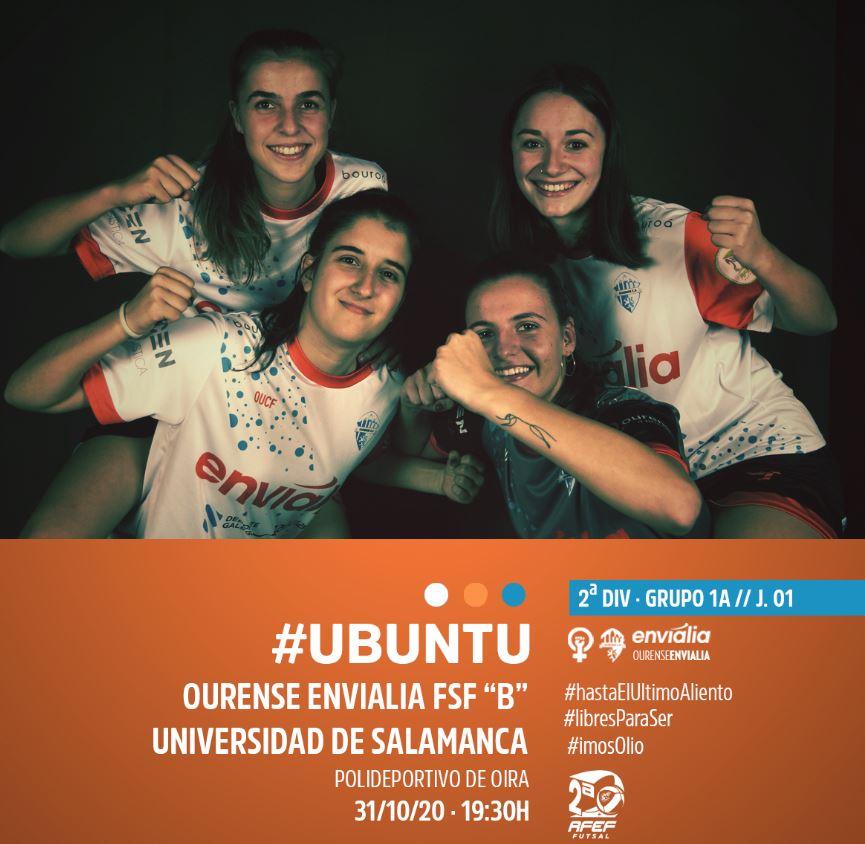 El Ourense Envialia ¨B¨ debuta en la liga ante el Universidad de Salamanca
