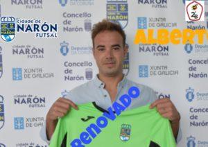 Alberto Niceto cumple su cuarta temporada en el  Cidade de Narón