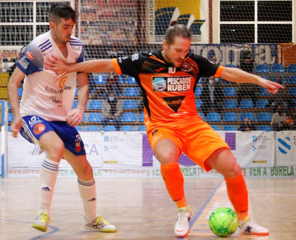 Burela Pescados Rubén empata ante el Fútbol Emotion Zaragoza en un encuentro trepidante ( 5 – 5 )