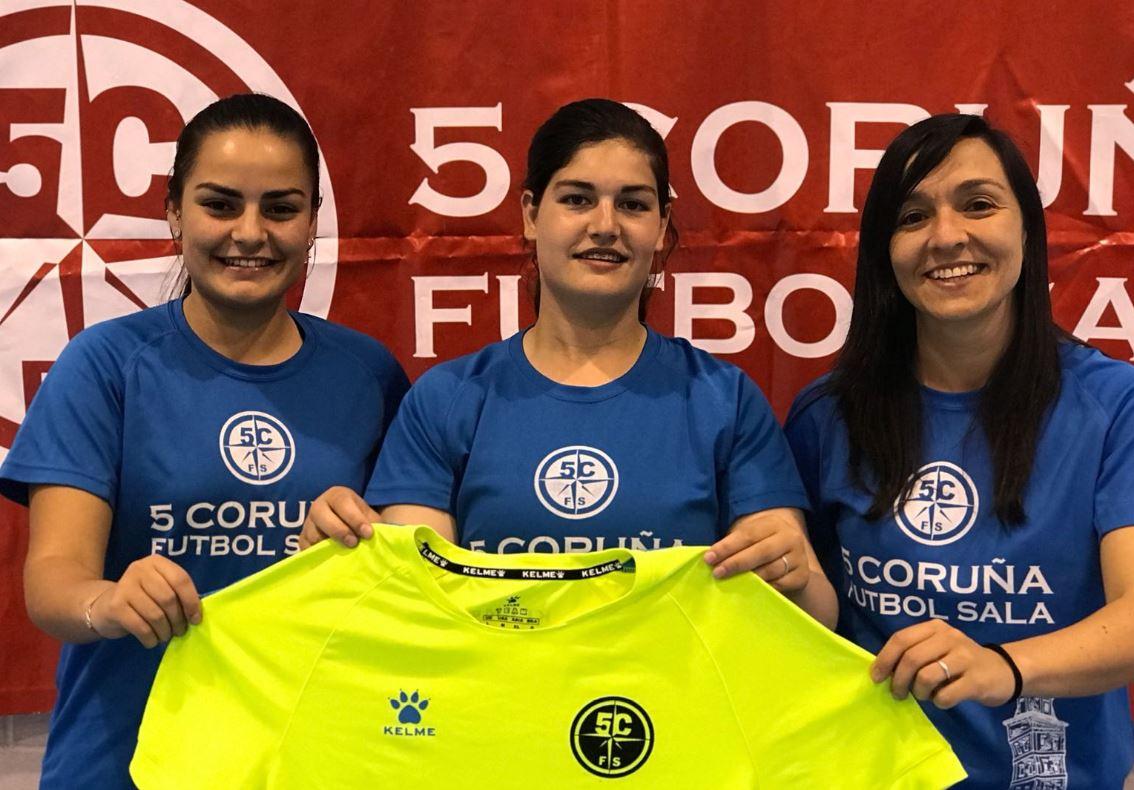 El 5 Coruña FS renueva al cuerpo técnico de la sección femenina del club