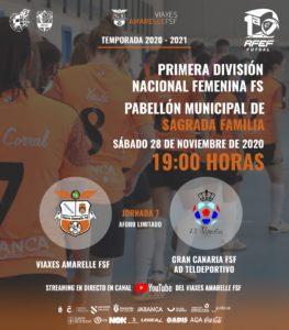 Viaxes Amarelle FSF, recibe al Gran Canaria Teldeportivo