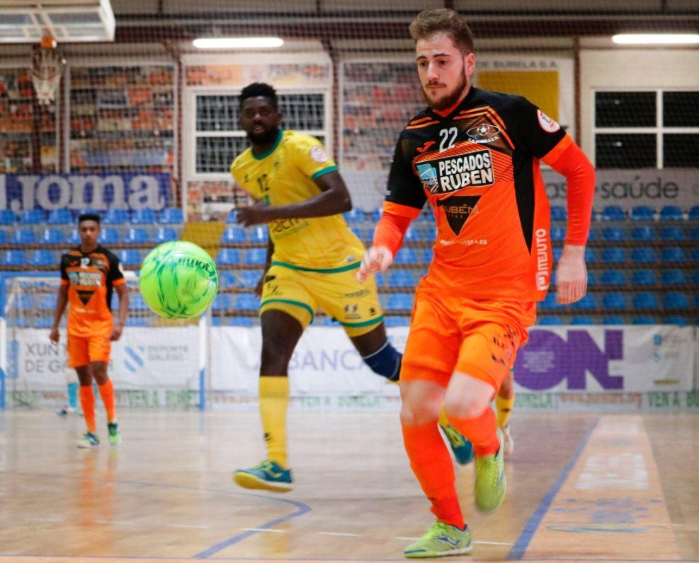 Burela P. Rubén consigue un punto ante el Jaén P. Interior  ( 3 – 3 )