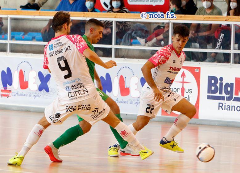Noia Portus Apostoli y JERUBEX Santiago Futsal disputan el gran derbi gallego de la Segunda División