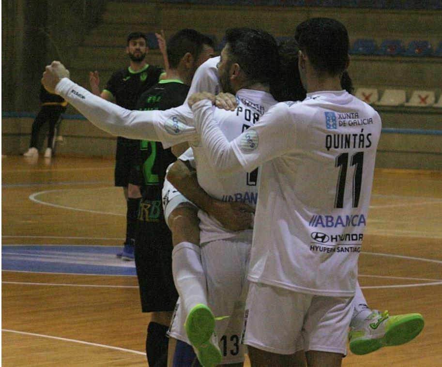 JERUBEX Santiago Futsal ofrece su mejor versión,  y derrota CD Leganés en Santa Isabel (3 -2 )