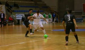 La primera parte condena al JERUBEX Santiago Futsal ante el CD Rivas Futsal ( 0 – 2 )