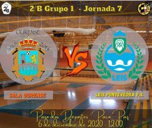 Sala Ourense recibe en el Paco Paz al Leis Pontevedra FS