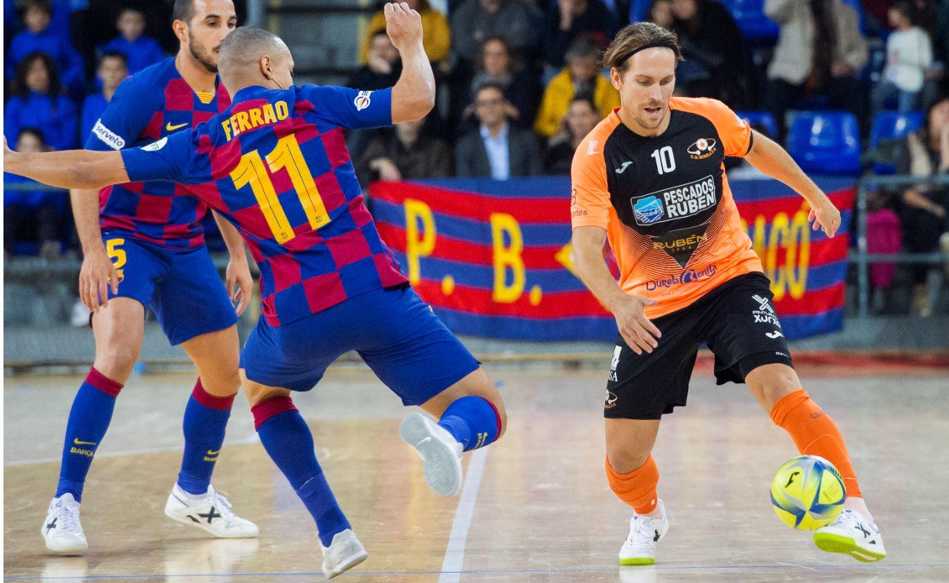 Burela P. Rubén viaja a la ciudad condal con ánimo de sorprender al FC Barcelona en la Copa de S.M. El Rey