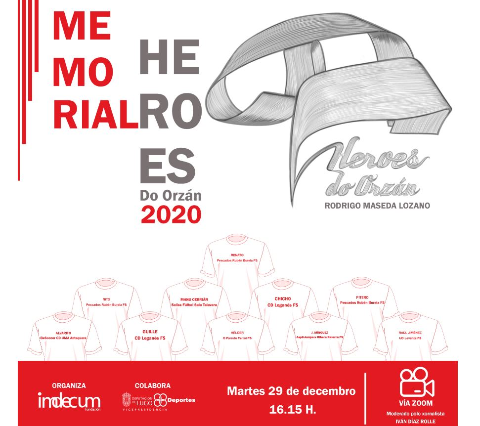 Renato, Nito,Pitero y Helder entre otros, participarán en el seminario web  Memorial Héroes del Orzán 2020