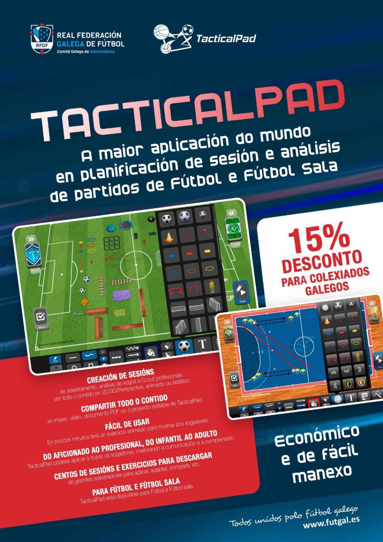 El Comité Gallego de Entrenadores firma un acuerdo con TacticalPad software para planificación y análisis