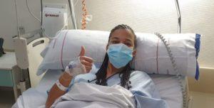 Yenny fue intervenida con éxito en la Clínica Fremap de Majadahonda