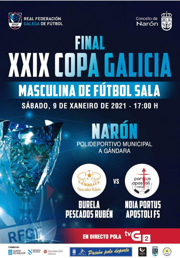 Burela Pescados Rubén y el Noia Fútbol Sala disputarán el trono gallego de la XXIX Edición de la Copa Galicia