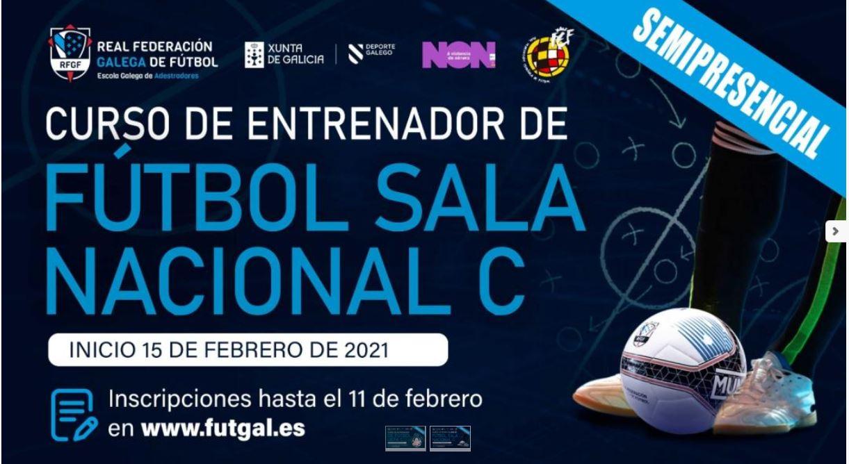 La Escuela Gallega de Entrenadores convoca el III curso Nacional C de Fútbol Sala – Semipresencial