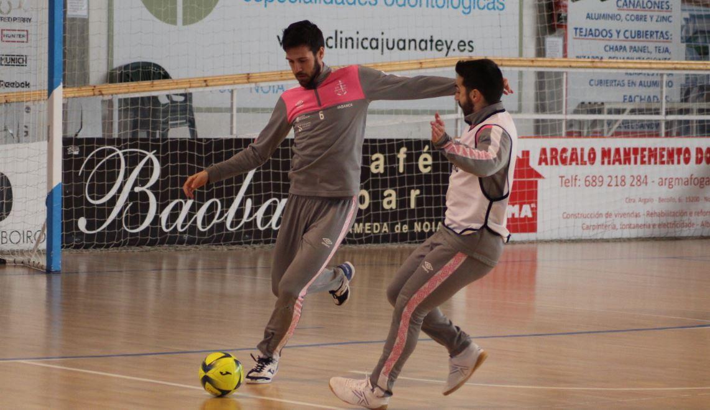 Noia Portus Apostoli visita la cancha del Rivas Futsal con la intención de seguir sumando