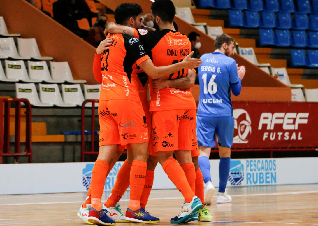 Burela Pescados Rubén vence al Viña Albali Valdepeñas en un partido con un ritmo frenético ( 3 – 2 )