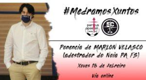 Marlon Velasco colabora en la formación de los técnicos del 5 Coruña FS