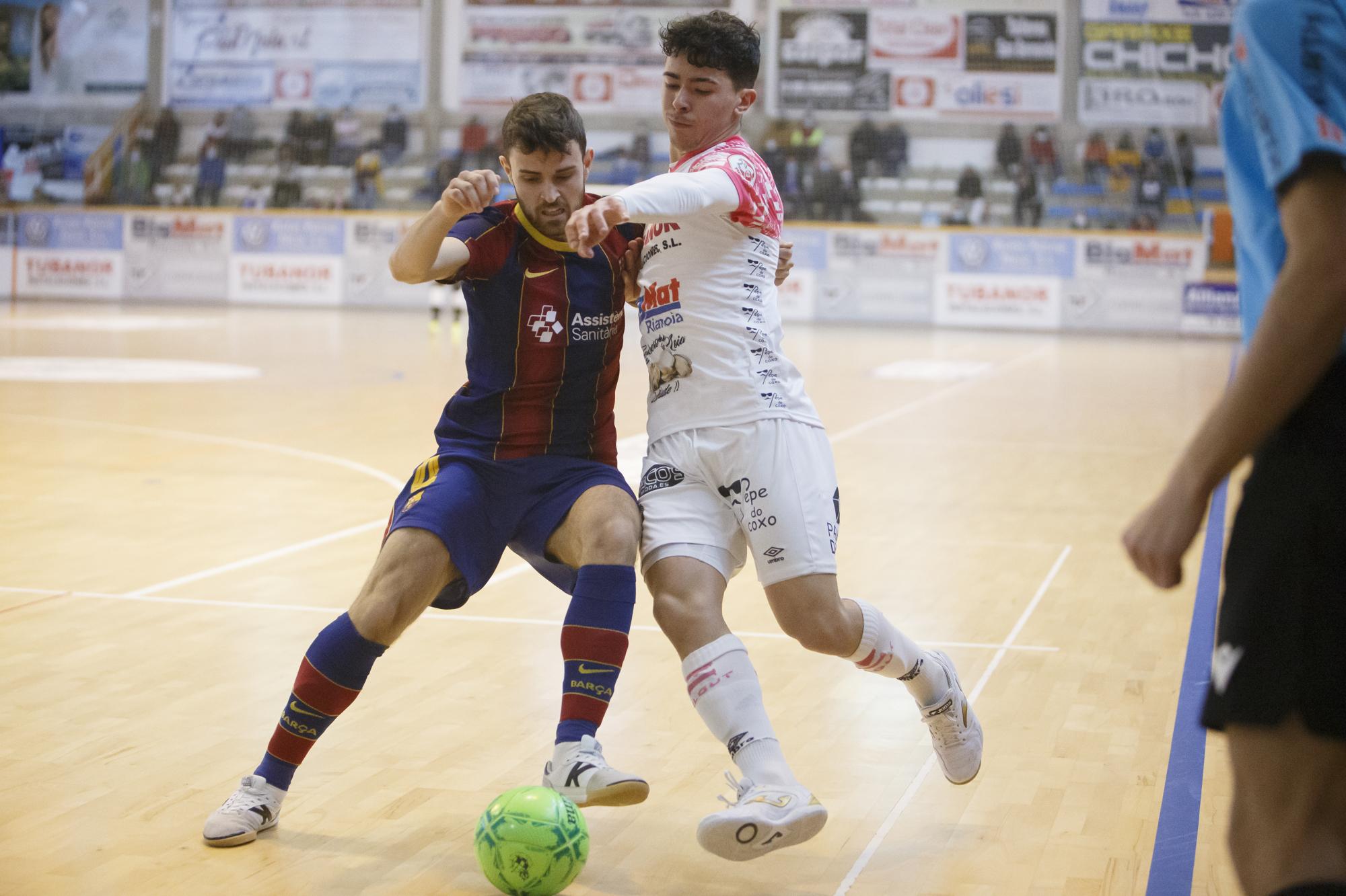 El Noia Portus Apostoli consigue tres puntos ante un correoso FC Barcelona