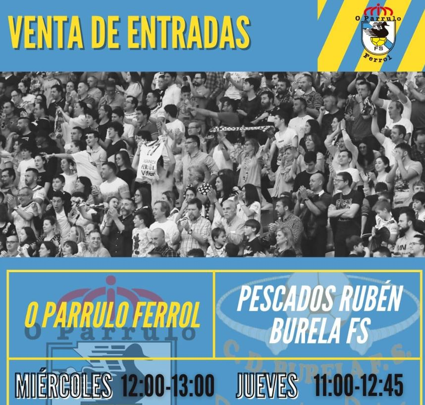 O Parrulo Ferrol pone a la venta las entradas para el derbi ante el Burela Pescados Rubén