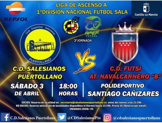 Salesianos Puertollano, busca los tres puntos ante Futsi Atlético Femeninas