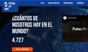 # FutsalisHere el portal mundial del Futsal ya está en marcha
