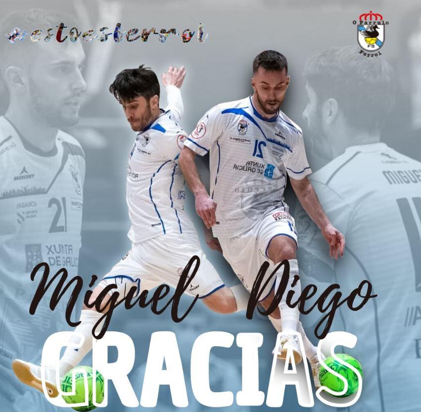 Miguel y Diego Nuñez dirán adiós a la afición ferrolana el próximo domingo