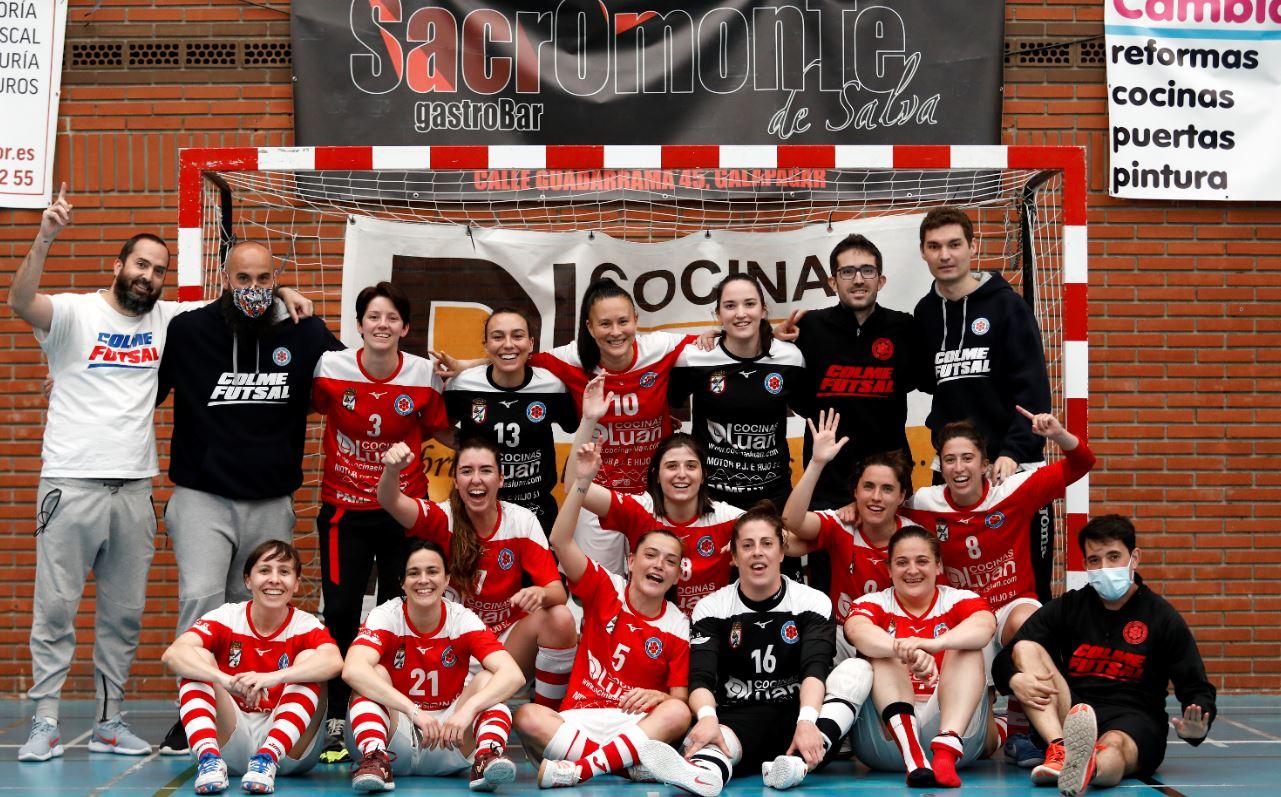Colme Futsal campeón de liga del grupo 4 C, de la Segunda Femenina RFEF Futsal tras vencer al Mora FS