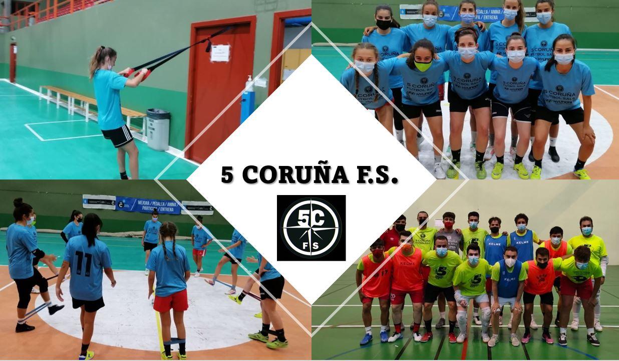 Continua la preparación de los equipos de categoría nacional  del 5 Coruña FS