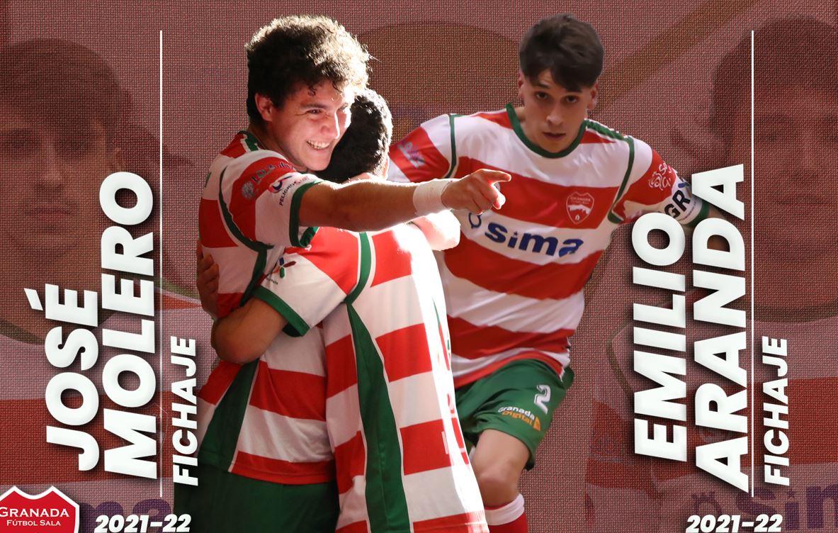Molero y Emilio procedentes del FutsalHendiN se incorporan al SIMA Granada