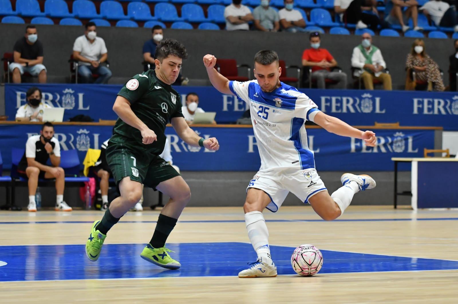 Un buen O Parrulo Ferrol cede un empate en los últimos minutos ante el CD Leganés
