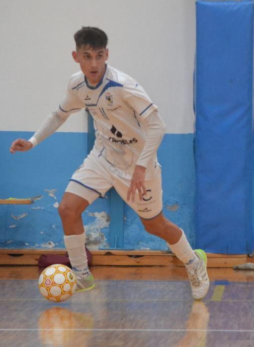 Alonso jugador del Café Candelas O Parrulo MVP Hyundai  en el partido ante el Ribeira FS